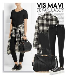 """Plaid"" by monmondefou ❤ liked on Polyvore featuring moda, Alexander Wang, R13, J Brand, Acne Studios y Converse"