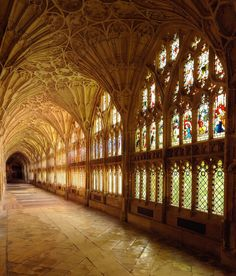 Cloisters at Gloucester Cathedral in England -- photo by Saffron Blaze - Flickr
