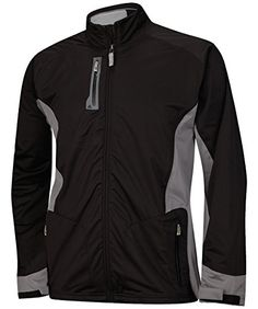 adidas Golf Mens Climaproof Advance Rain Jacket Black XLarge >>> You can get more details by clicking on the image.