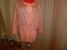 NWT Kate Hill cotton weightless open front cardigan in tangerine size 3X.