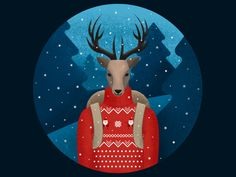 Christmas Deer by Anna