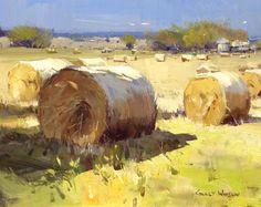 "Colley Whisson   November in Kyneton, Aust Oil 6""x 8"