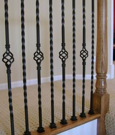 Share this to get 15% off your parts. 16.1.3-T Hollow Single Basket Iron Baluster #cheapstairparts