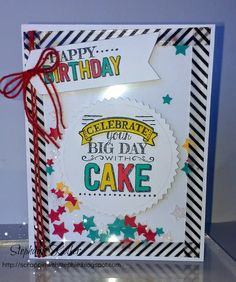 Stampin Up My Big Day stamp set birthday card. Sale-a-bration