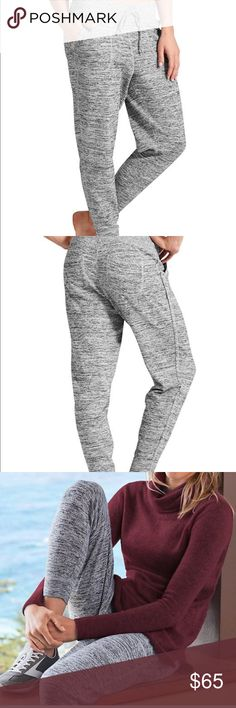Athleta joggers He's there's gray joggers . worn once  . Perfect condition Athleta Pants Track Pants & Joggers