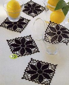 small crochet doilies - could be in red for Christmas