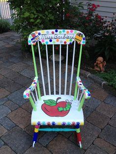 Handpainted Custom Teacher Chair