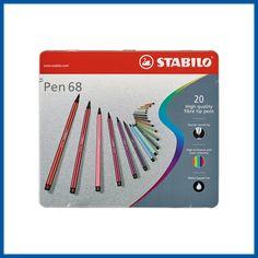 Marker Pen, Permanent Marker, Stabilo Point 68, Bic Kids, Stabilo Pen, Pen Brands, Kawaii Pens, Fineliner Pens, Cute Pens