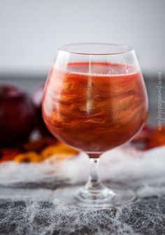 Poisoned Apple Cider Cocktail   Perfect for Halloween, this sweet and eerily beautiful cocktail is made with just a handful of ingredients, and tastes every bit as great as it looks!   https://www.the5oclockchef.com   #cocktail #drink #applecider #Halloween