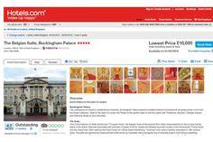 Hotels.com e a suite do Buckingham Palace