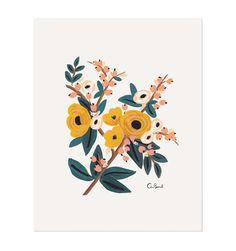 Marigold Botanical Illustrated Art Print - obsessed with Rifle Paper Co.