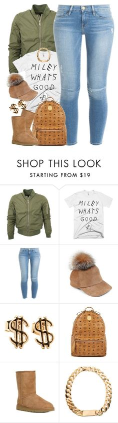 """Untitled #1480"" by power-beauty ❤ liked on Polyvore featuring Frame Denim, Lola, MCM and UGG Australia"