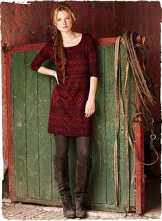 Sulawesi Pima Cotton Tunic Dress- I love tunics. This color and print are so great!