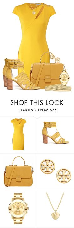 """""""Sole Society Elise Gladiator Heel"""" by ljbminime ❤ liked on Polyvore featuring moda, Versace, Sole Society, Tory Burch, Movado, Finn, Liz Claiborne, women's clothing, women y female"""