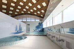 """Onagawa Station and a public bath were swept away by the tsunami in 2011."" www.shigerubanarchitects.com/works"