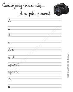 Ćwiczenia pisowni liter dla dzieci do wydruku