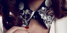 Pretty DIY Embellished Collar Cool...I might be going to the and craft store soon