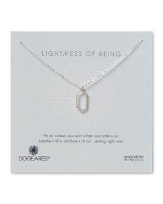 """Dogeared Lightness of Being Open Hexagon Necklace, 18"""""""