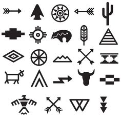 Tribal Symbols Tattoo Set – My World Native Symbols, Indian Symbols, Tribal Symbols, Native American Symbols, Mayan Symbols, Native American Design, American Indian Art, Religious Symbols, Indian Tribal Tattoos