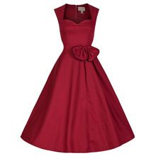Audrey Hepburn estilo vintage sin mangas del bowknot arco del vestido de bola del vestido del algodón vestidos robe mujeres fiesta casual 50 s 60 s vestidos(China (Mainland))