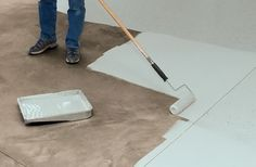 How to Paint a Floor . . .  If you are interested in painting a floor, please read the information at this link carefully.  It explains all the things you need to consider, as well as telling you how to DIY.  (My daughter is certified in lead removal, so if this were an issue for us, she has us covered.)