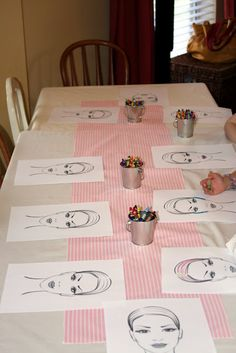 Beauty colouring-in task