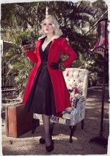 D'Amour Gathered Waist Coat (Red)