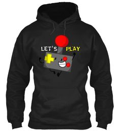 Play Let's Black Sweatshirt Front
