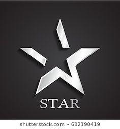 3d silver negative shape star symbol Logo Inspiration, Star Sleeve Tattoo, Logo Minimalista, Space Tourism, Dont Touch My Phone Wallpapers, Star Logo, Fall Wallpaper, Minimal Logo, Elements Of Art