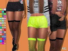 Sporty Fishnet Tights by Pinkzombiecupcakes at TSR • Sims 4 Updates