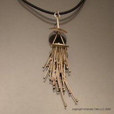 "Secret Life of Jewelry - A Universe of Handcrafted Art to Wear: Amenda Tate Jewelry. ""Squid Tassel Pendant."""