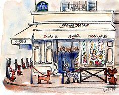 paris breakfasts: Pets in Paris Portraits