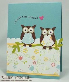 I can't wait to order these little owl punches from stampin up and make some cards on a lazy spring break day.  Something to hoot about!