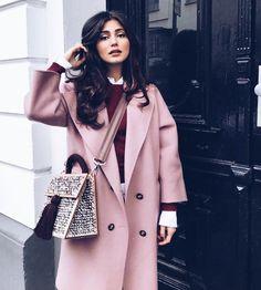 Pink coat Who loves the color?) #CoatSeason