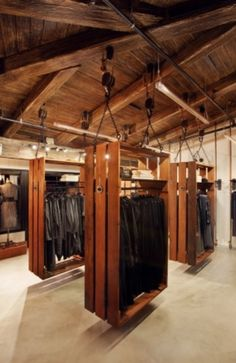 Retail store interior display Crates + great use of fixtures + wood ceiling! Description from pinterest.com. I searched for this on bing.com/images