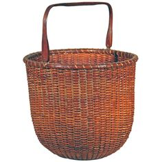 Rare Tall Lightship Basket with Handle | From a unique collection of antique and modern baskets at http://www.1stdibs.com/furniture/more-furniture-collectibles/baskets/