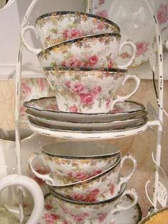 rose tea-cups