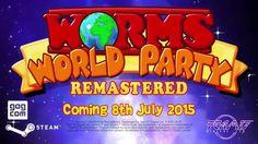 YA ANUNCIARON LA REMASTERIZACIÓN DE #WormsWorldParty.  Será lanzado el 8 de julio en PC.