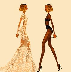 Illustration of Beyonce at the 56th Grammy Awards (2014)