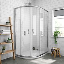 Newark Offset Quadrant Shower Enclosure Only Various Sizes At Victorian Plumbing Uk Quadrant Shower Enclosures Corner Shower Enclosures Quadrant Shower
