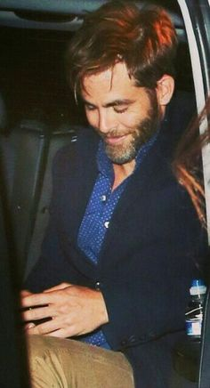 Chris Pine, smile