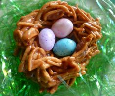 Peanut Butter Chocolate Birds Nests Treats