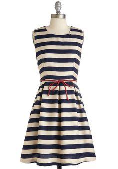 Line and Dine Dress   Mod Retro Vintage Dresses   ModCloth.com