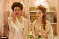 Charlotte (Courtney Ch'ng Lancaster) and Nicolette (Zoe de Grand'Maison) react to Isabelle's death. Copyright: Shaftesbury