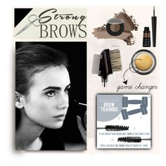 """""""contest entry strong brows2"""" by art-gives-me-life ❤ liked on Polyvore featuring beauty, Tweezerman, BeautyTrend, strongbrows and boldeyebrows"""