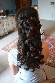 Half Up Half Down Bridesmaid Wedding Hairstyles