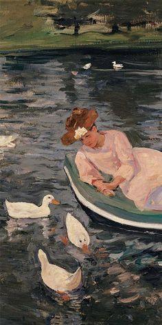 "Mary Cassatt, ""Summertime"" (detail)You can find Mary cassatt and more on our website. Aesthetic Painting, Aesthetic Art, Mary Cassatt Art, Arte Peculiar, Arte Van Gogh, Wow Art, Impressionist Art, Classical Art, Renaissance Art"