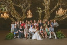 Beautiful wedding at Antebellum Oaks with our string lighting and chandeliers. Photo by Day 7 Photography.