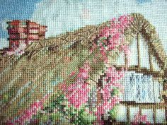 Marty Bell Wepham Cottage Completed Cross Stitch by OldSkoolKrafts