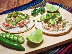 Tacos de Pollo a la Mexicana (Shredded Chicken Tacos) via @Leslie_Limon  -Yummy - RF